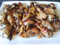 Roasted chicken with dried fruit ...