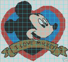 I Love Mickey Mouse Crochet Pattern