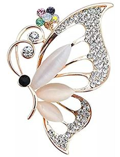 Exquisite Clear Crystal Rhinestone Butterfly Insect Brooch Pins Jewelry 6fb459f54542