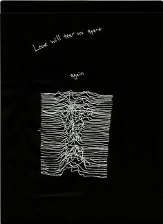 drawing art music Joy Division Love Will Tear Us Apart unknown pleasures british pop Joy Division, Music Lyrics, My Music, Indie Music, Dance Music, Radiohead Poster, Ian Curtis, The Wombats, Black & White Quotes