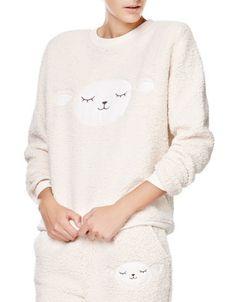 Bluza z owieczką - Bluzy - Oysho.