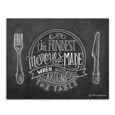 Fondest Memories are Made When Gathered Around the Table - Print - Lily & Val