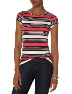 Striped Perfect Tee from THELIMITED.com