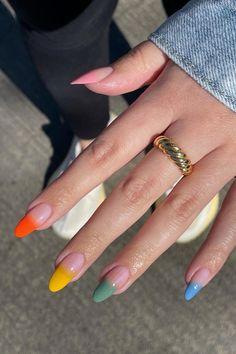 Summer Acrylic Nails, Best Acrylic Nails, Stylish Nails, Trendy Nails, Nagellack Trends, Nail Jewelry, Funky Nails, Fire Nails, Minimalist Nails