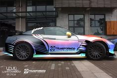 Layout of Wild BenSopra Nissan GT-R With Rainbow Vinyl Wrap,LCWD is the designer of this car