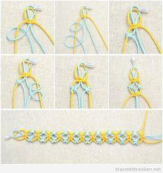 On a vu des nombreux bracelets fabriqués en fil de queue de rat, mais celui-ci est particulière, on pense que c'est parce que il y a des « trous » ou espaces et la plint…