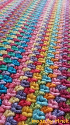 made by Mriek: Drops moss stitch sjaal. Moss stitch for scrap yarn :)