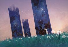 Dandelions by Ner-Tamin.deviantart.com on @deviantART