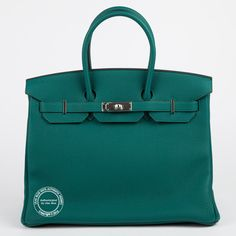 Hermes Glycine Leather Birkin 35cm Palladium Hardware