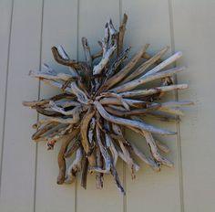 Driftwood Wall Hanging Sculpture Beach Wall by BurlgirlCreations