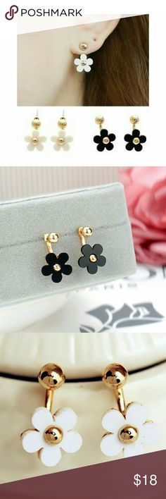 NEW! Flower Earrings BRAND NEW! FLOWER EARRINGS - available in black and white! Being your outfit of the day to the next level with these chic earrings! When purchasing, please leave me a comment on which color you want. Jewelry Earrings