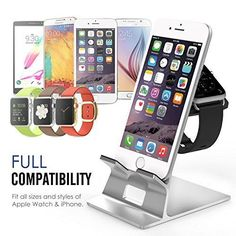 #Aluminum #Apple #Watch #Iphone Stand Dual Charging Stand Station Desk Cradle Holder #MoKo