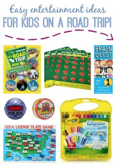 The easiest ways to help your kids stay entertained while on a road trip!  www.thedempsterlogbook.com