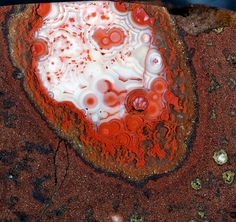 Red and white agate