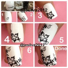 Black  white nails tutorial !