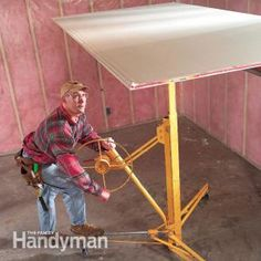 How to Hang Drywall: Use a Lift