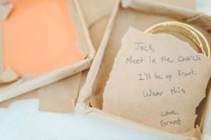 super sweet note from the groom // photo by Paper Antler