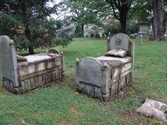 bed tombstones