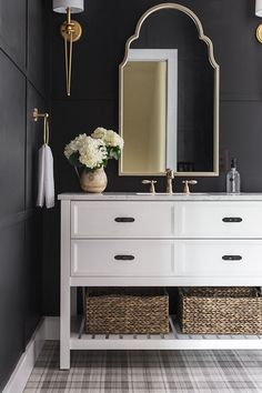 Bold luxury bathroom on a budget