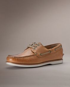Frye Sully Pebbled Full Grain Leather Boat Shoes tan summer mocassin