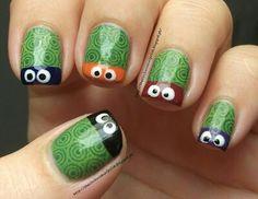 Ninja Turtles Nail Art