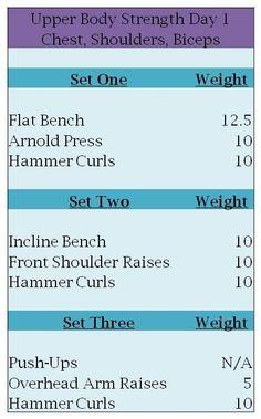 3 Set workout