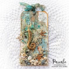 Scrap Made in Touraine: Seahorse - Nomadic Soul Diaries DT Mixed Media Boxes, Mixed Media Art, Matte Gel, Art Basics, Paper Crafts, Diy Crafts, Paper Tags, Art Journal Inspiration, Tag Art