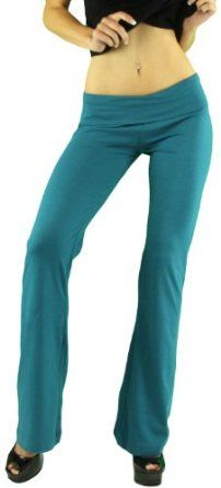 f65d69bec0 ToBeInStyle Women's Elastic Sweatpants w/ Fold-Over Waistband - Small -  Teal ToBeInStyle. $11.79