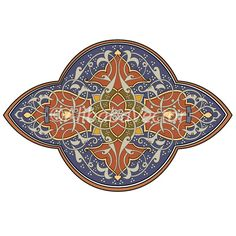 LiverFlower3  Mediterranean Motif by AlibabaVector on Etsy, zł8.00