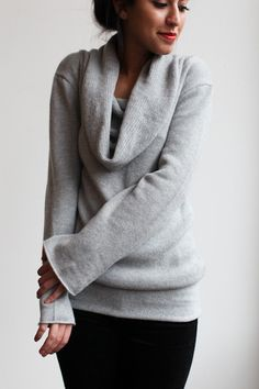 Souchi - Luxury Cashmere Sweaters, Dresses, Skirts, and Bikinis by Suzi Johnson - souchi hand loomed claudia cashmere cowl neck sweater