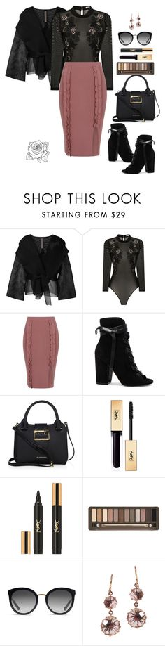 """""""All The Feels"""" by uniquely-flawed ❤ liked on Polyvore featuring Rick Owens, AnhHa, River Island, Gianvito Rossi, Burberry, Yves Saint Laurent, Urban Decay, Dolce&Gabbana and Patile Kalandjian"""
