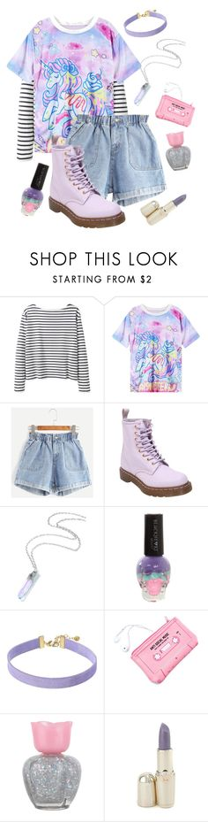 """""""Enth"""" by violenceinsilence ❤ liked on Polyvore featuring Wood Wood, Dr. Martens, Hot Topic, Vanessa Mooney, Lazy Oaf, Forever 21 and Versus"""