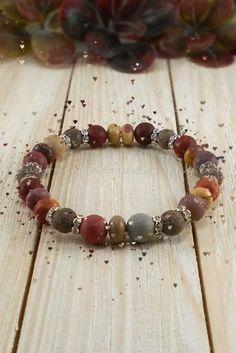 Gemstone Bracelets, Gemstone Beads, Stretch Bracelets, Lava, Gemstones, Jewelry, Jewlery, Gems, Jewerly