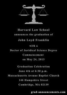 Law school graduation announcements online