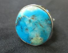 Opal ring  celestial blue peruvian opal by Perunz on Etsy, $45.00