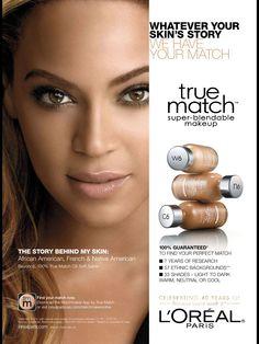 L'Oréal Paris Cosmetic Advertising with Beyoncé.