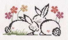 Bunnies Free Cross Stitch Pattern Chart