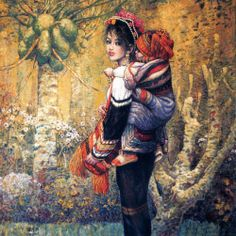 Chen Chong Ping (1940, Chinese) 'Young Woman And Child'