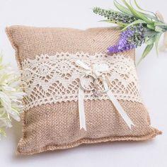 ringkissen vintage boho mit namen und datum wedding hochzeit and ring pillows. Black Bedroom Furniture Sets. Home Design Ideas