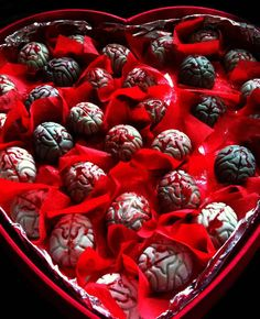 Zombie Brain Truffles.  When you get these, you know you're really loved.
