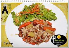 Feijão Manteiga com Arroz e Legumes – Receitas Especiais