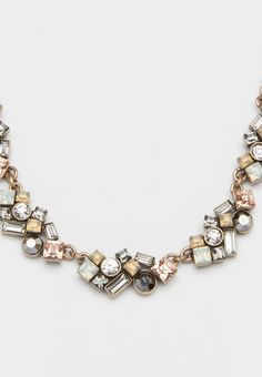 necklace with mixed rhinestone clusters (original price, $20.00) available at #Maurices