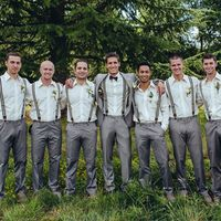 Rustic Grey Groomsmen Attire