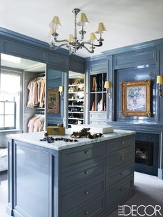 Bring style and organization to an over-sized walk-in closet. Find the perfect Donald Gardner home plan at http://www.dongardner.com/. #WalkIn #Closet #Organization