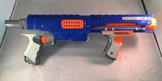 Blue Nerf N-Strike Raider CS-35 Blaster Gun Toy Gun With Clip #Hasbro