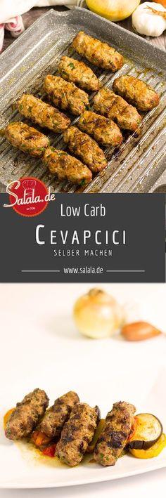 """Super leckere Cevapcici aus reinem Rinderhackfleisch - ohne Semmelbrösel, ohne Ei und ohne Mehl. Saftig und absolut keto-geeignet! - salala.de - Heute gibt's die perfekte """"Beilage"""" zu unserem Djuvec Reis = selbst gemachte Cevapcicis."""