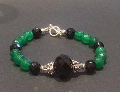 CatchyTreasures Semi Precious Emeralds and Onyx by CatchyTreasures