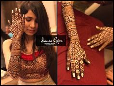 It's all about the elegance ♥️ 🌷 Special engagement mehendi for our engagement bride Ishita who is a makeup artist herself. The ring…