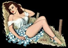 Vintage Cowgirl pin up..