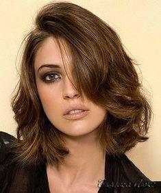 каскад на вьющиеся волосы средней длины - Поиск в Google